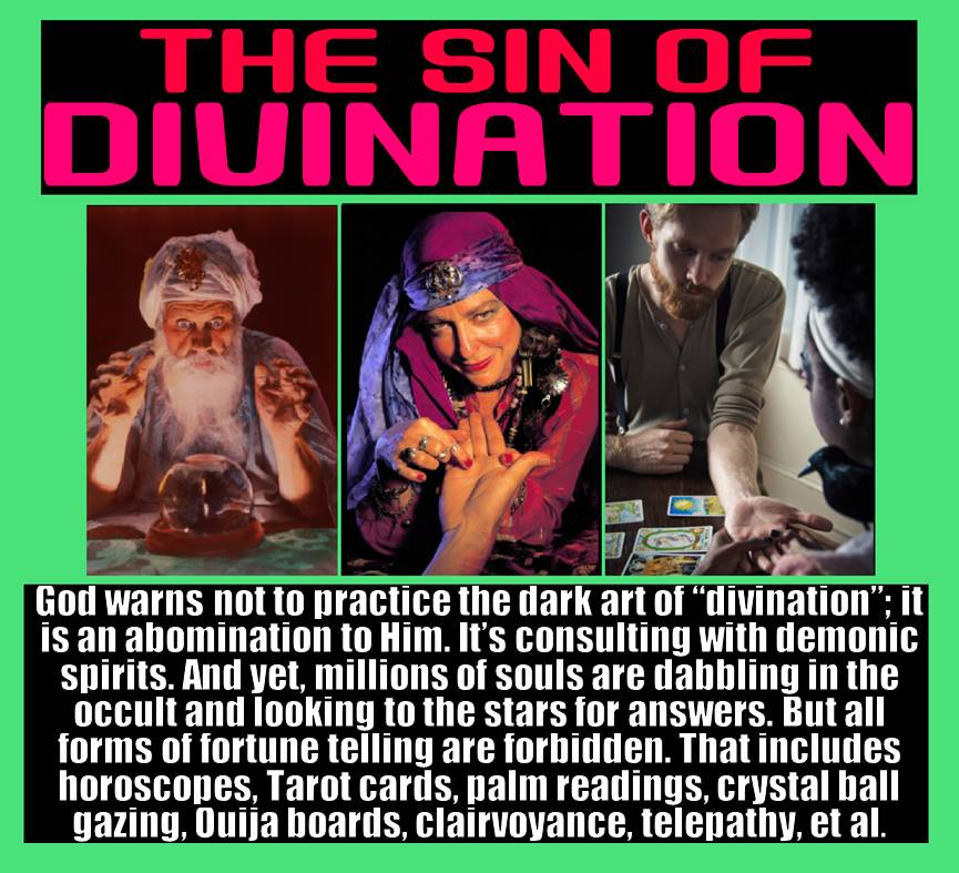 Fortune Telling, Palm Reading, and Tarot Cards is Sin, and