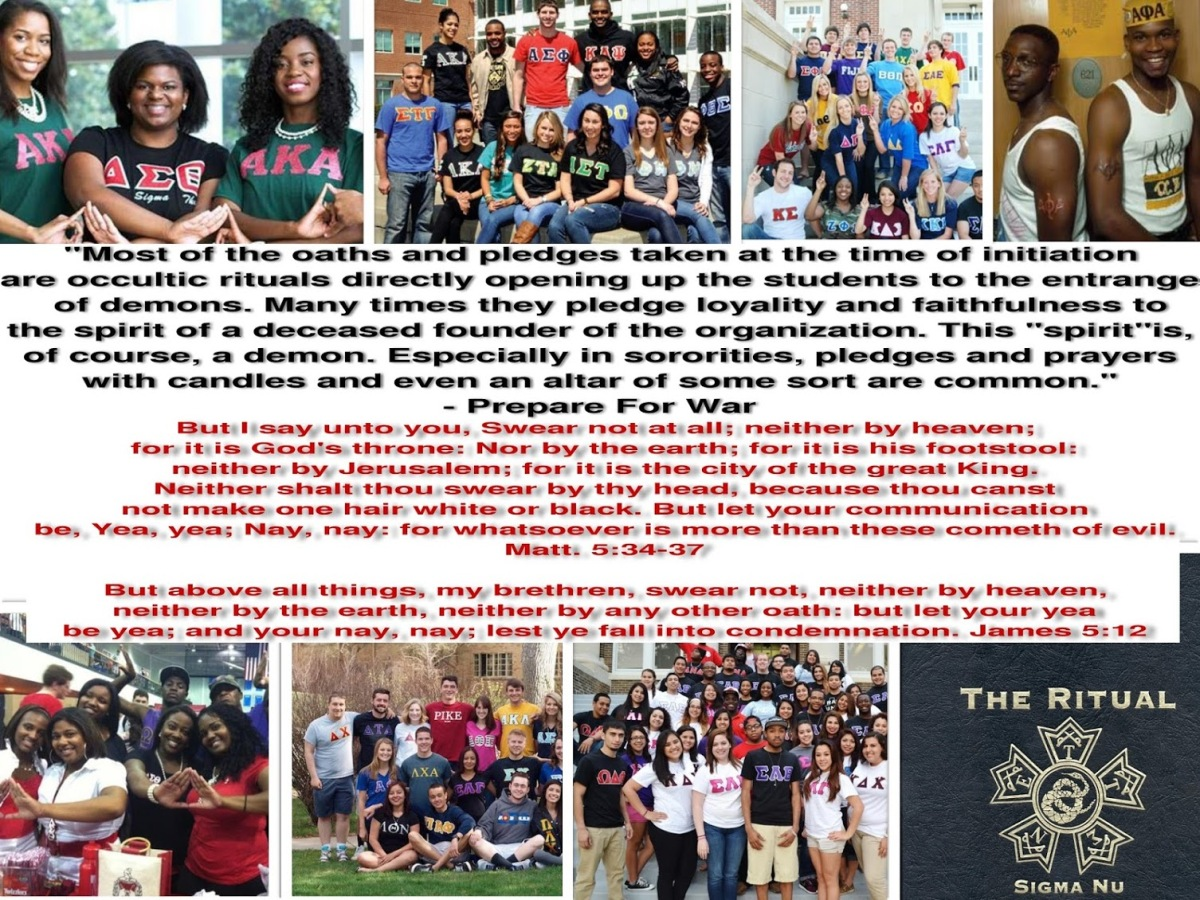 Thinking About Joining A Fraternity Or Sorority? The Demonic Spirits Behind Greek Organizations Exposed