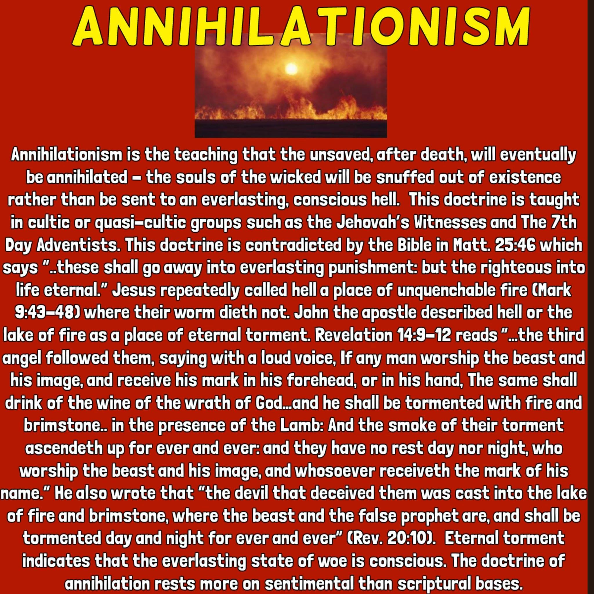 Annihilationism