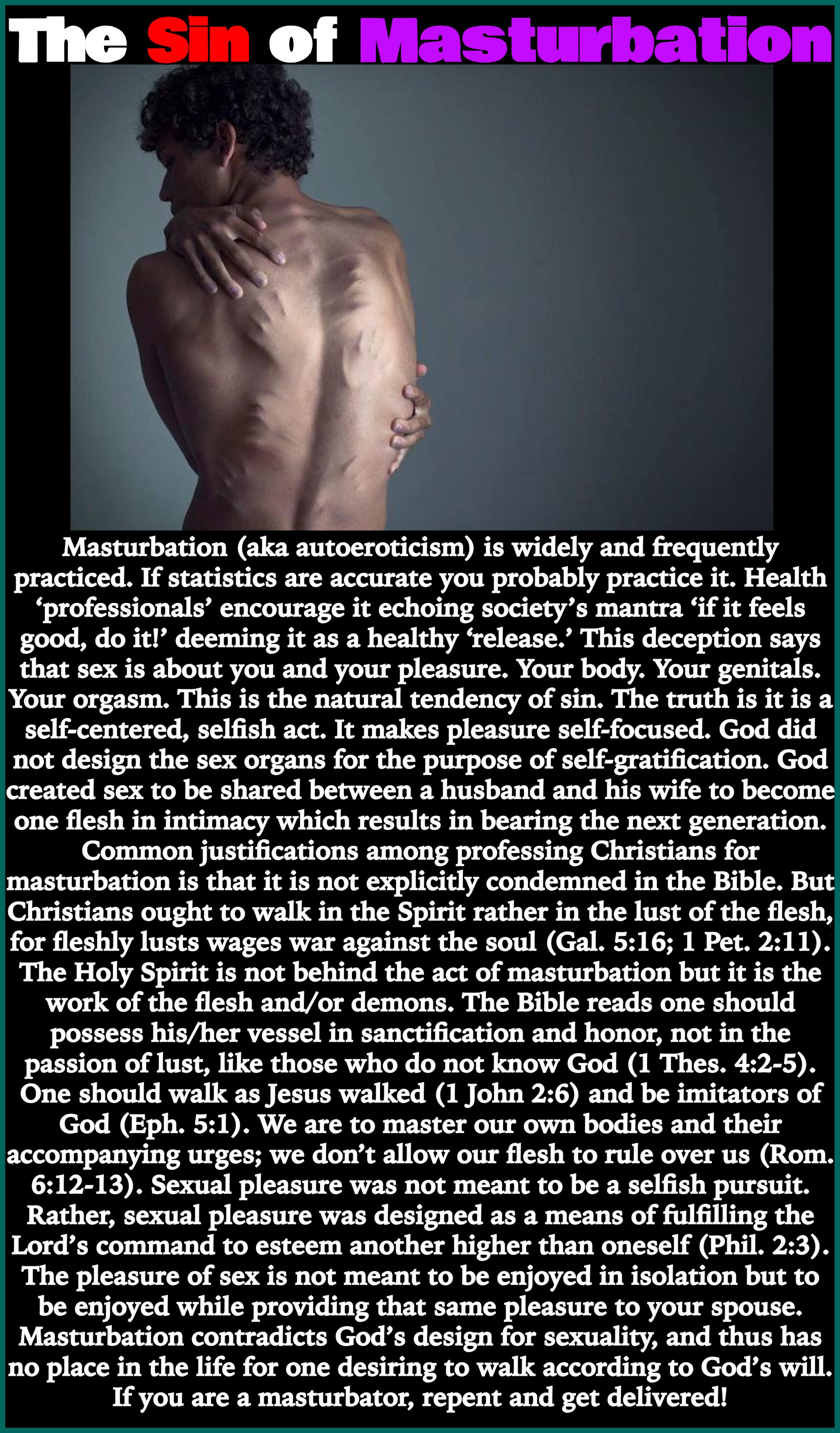 Is masturbation selfish sin