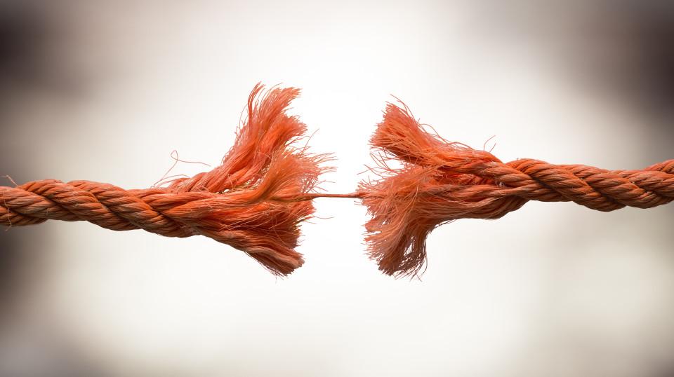 broken old string - tension concept