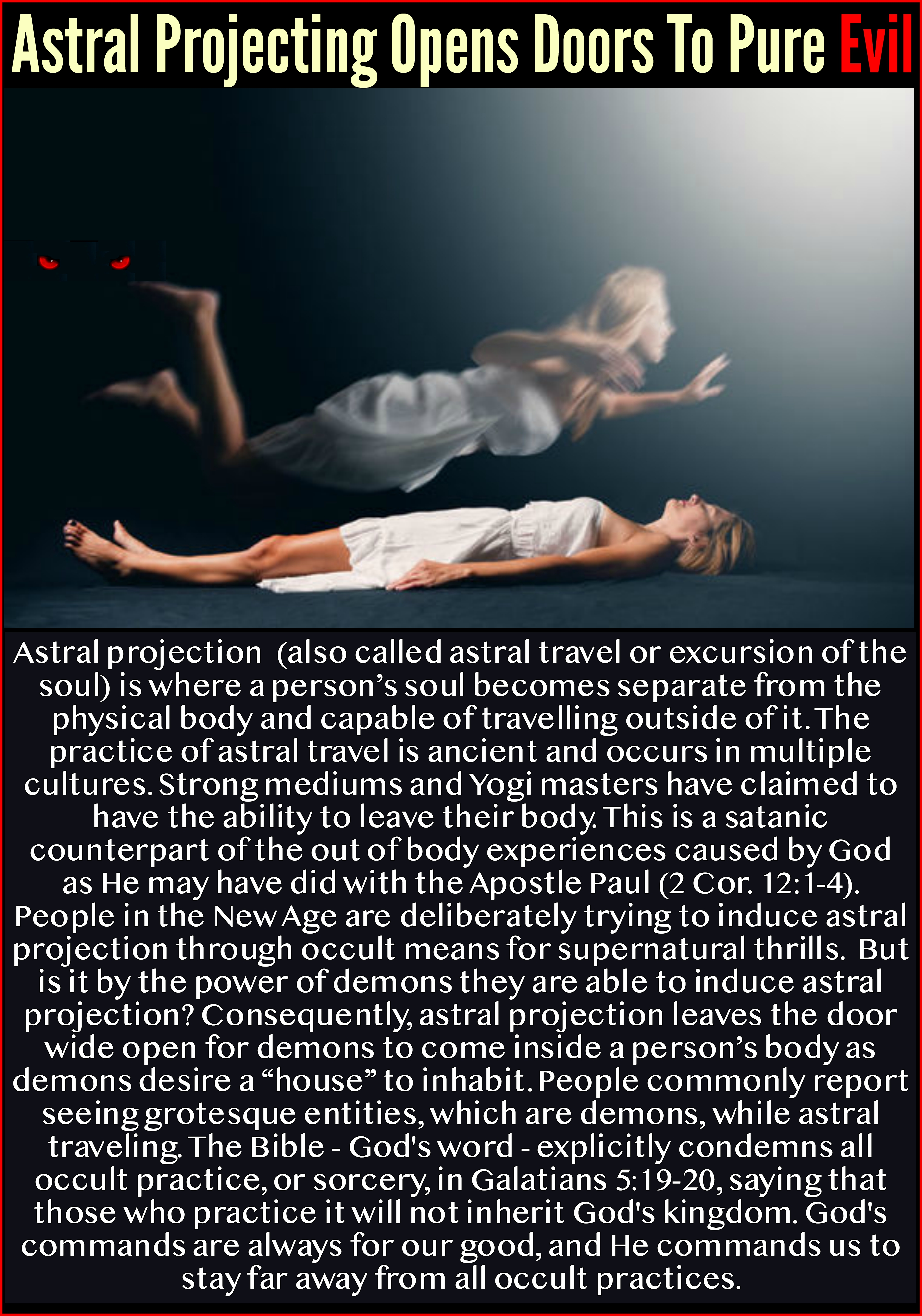 Astral Projection is Demonic – Jesus Truth Deliverance