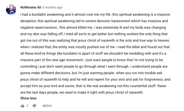 Kundalini Awakening/Arousal/Activation or Really Demonic Possession