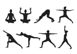 free-woman-yoga-silhouette-vector